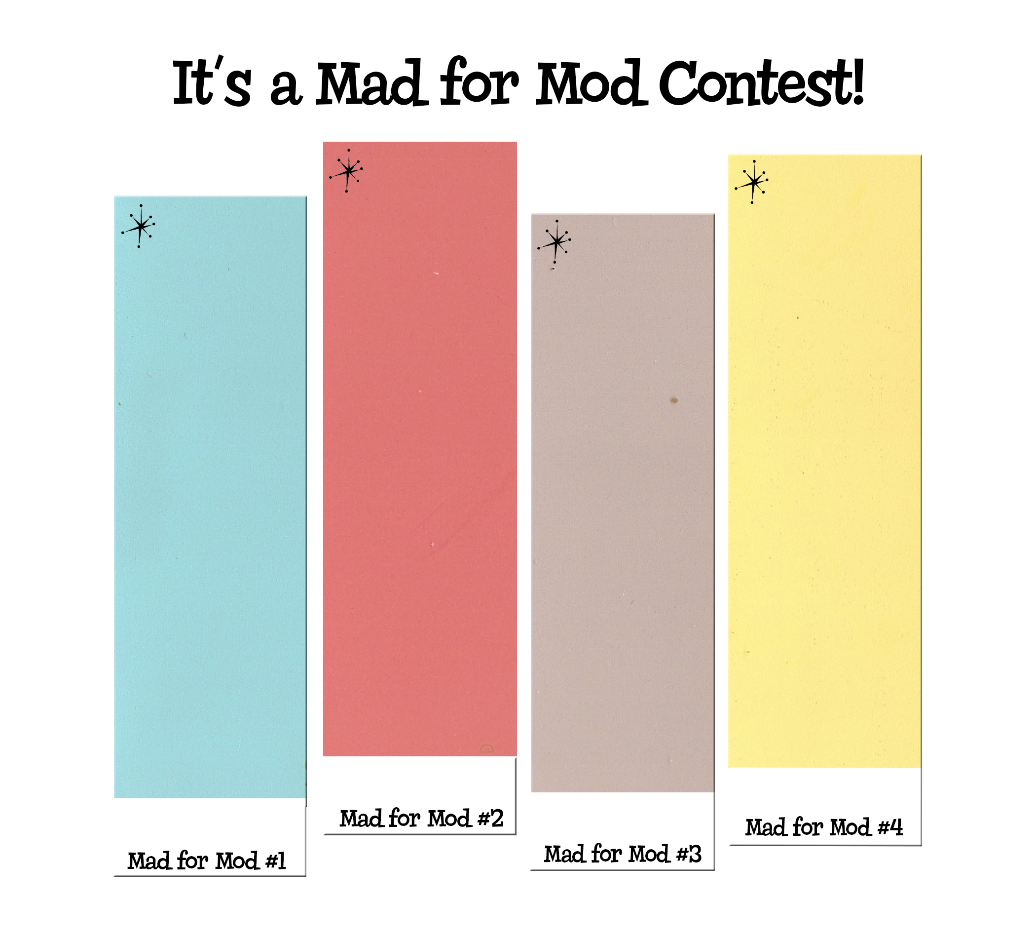 mad for mod contest pick atomic color names and win. Black Bedroom Furniture Sets. Home Design Ideas